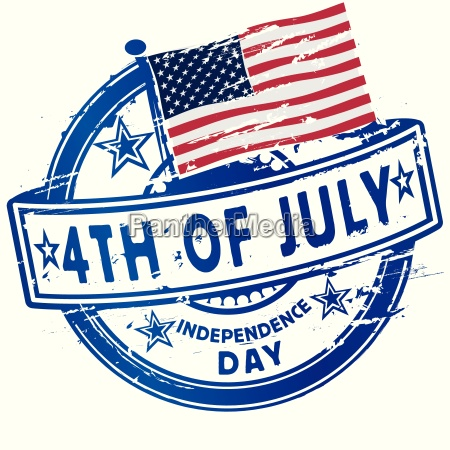 stamp fourth july independence day