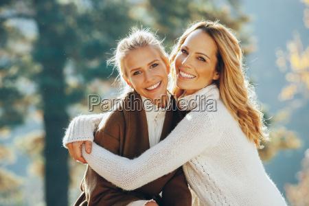 retrato de la madre feliz y