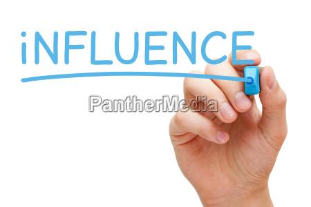 influencia inspirar acto pensamiento mercadeo