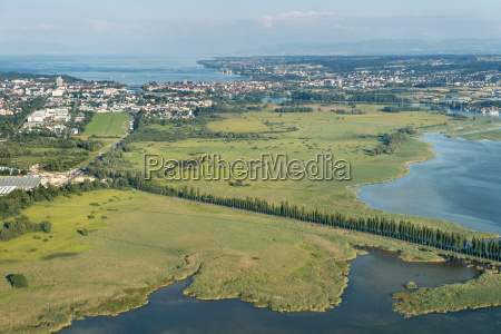 germany lake constance aerial view reichenau