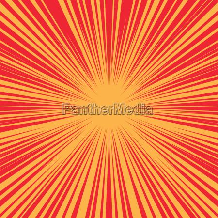 brillante explosion de fondo retro comic