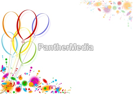 globos de fiesta de colores