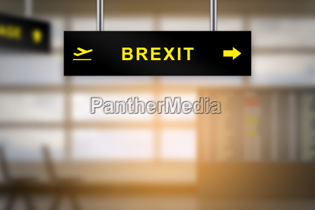 brexit or british exit on airport