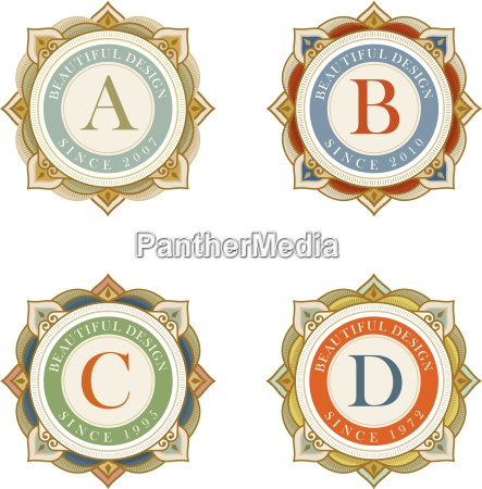 elegant vector emblem template collection