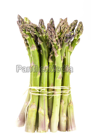 standing bunch of green asparagus