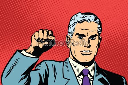 politico protesta por el gesto de