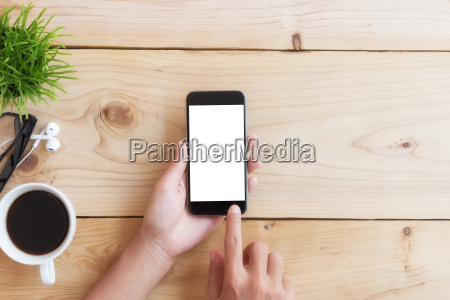 hand use phone white screen on
