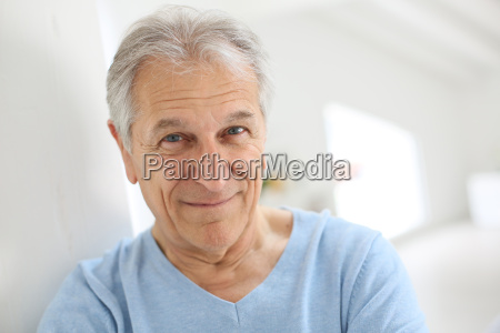 portrait of smiling senior man with