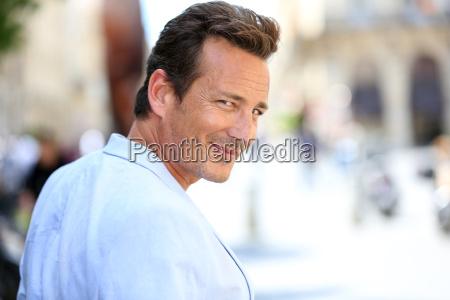 portrait of handsome mature man in
