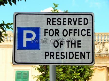 senyal oficina estacionamiento senyal de trafico