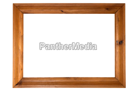 marco, de, madera, sobre, fondo, blanco - 17850410
