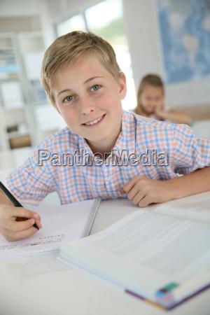 retrato de un chico de 12