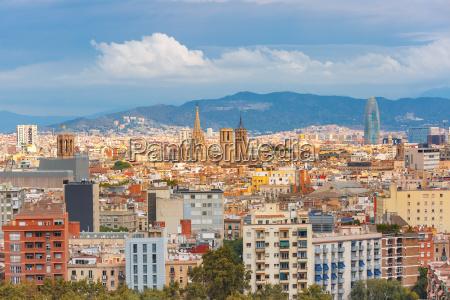 vista aerea de barcelona catalunya espanya