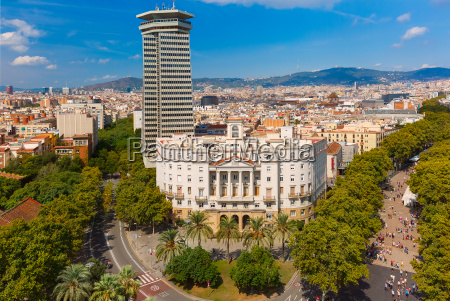 la rambla in barcelona catalonia spain