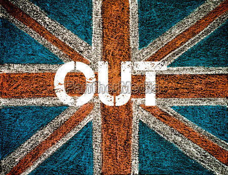 concepto brexit sobre la bandera de
