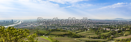 panorama of vienna with the suburbs