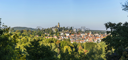 view to old town and castle