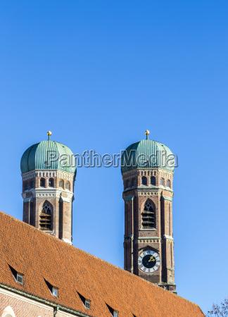 the top of munich liebfrauenkirche