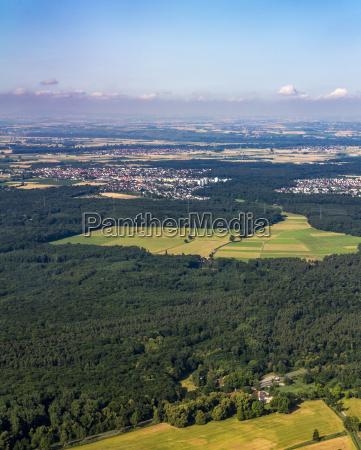 aerial of rhein main area in