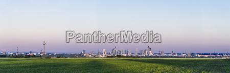 panoramic view to frankfurt am main