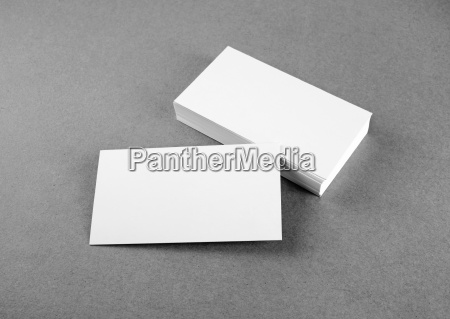 tarjetas de negocios en blanco