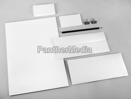 en blanco imitacion papeleria identidad conjunto