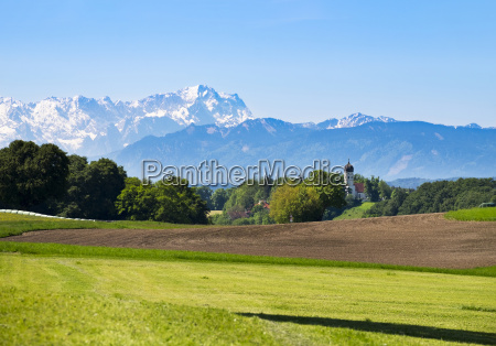 germany bavaria upper bavaria fuenfseenland alpine