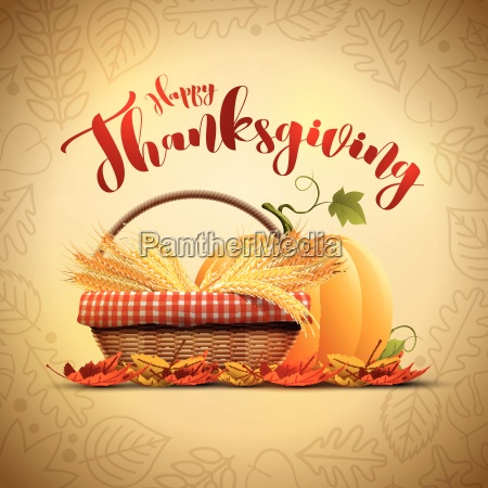 vector autumn happy thanksgiving poster design