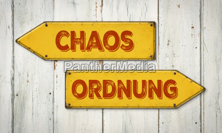 signposts chaos or order