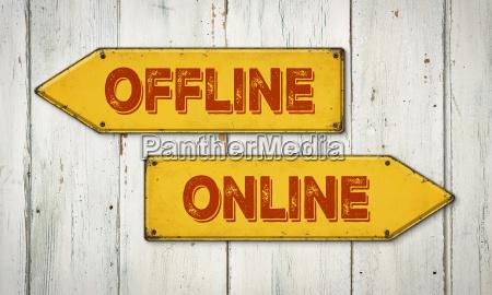 signposts offline or online