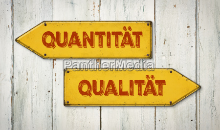 signposts quantity or quality