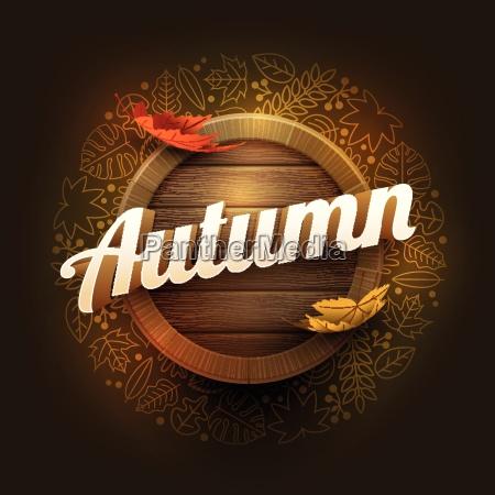 vector autumn poster design template elements