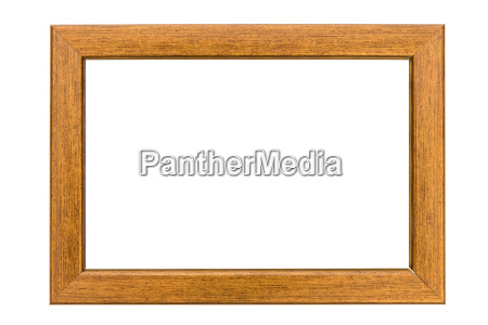 copper photo frame on white background