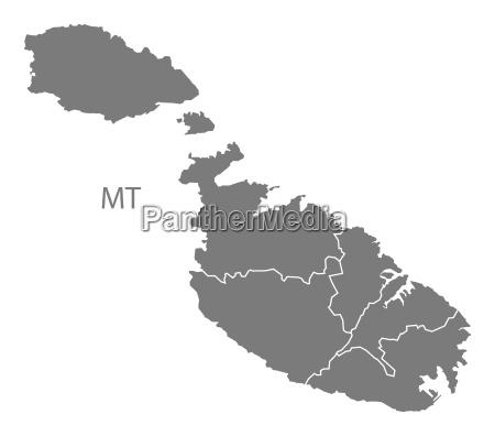 ilustracion malta icono en casa plano