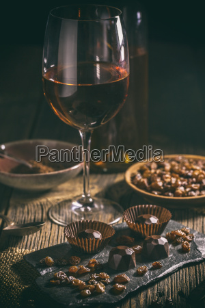 praline de chocolate