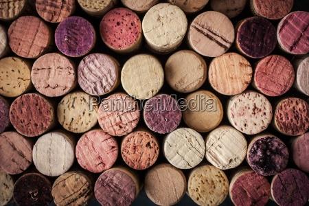 corchos de vino fondo horizontal