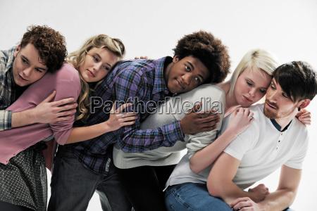 mujer amistad retrato afecto posicion direccion