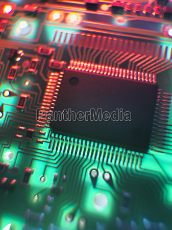 naturaleza muerta primer plano componente electronica