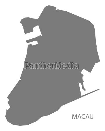 negro china condado mapa gris