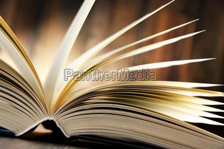 composition with hardcover book on the