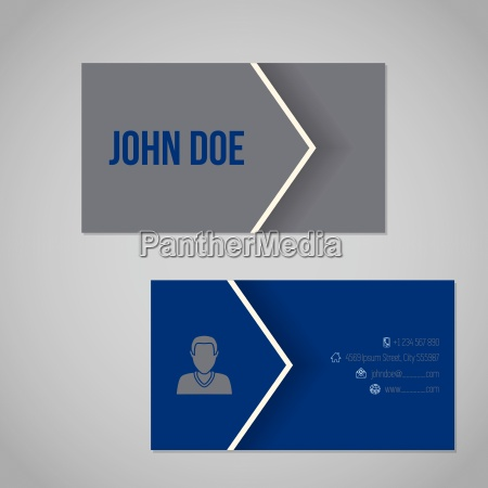 blue gray business card with cool