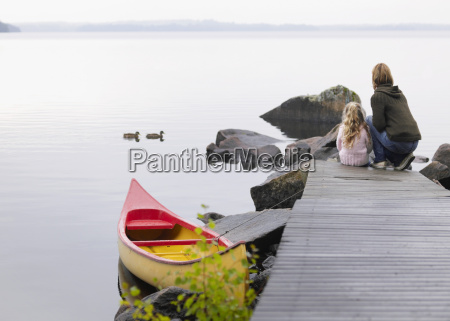 woman and young girl on a