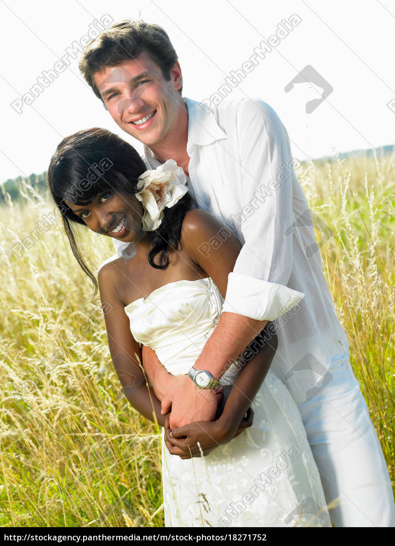 pareja, casada, en, un, campo - 18271752