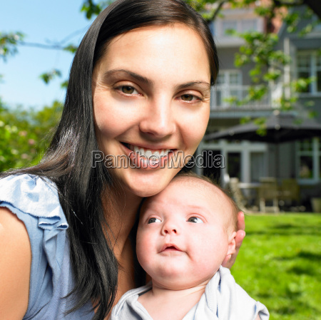 mother with her baby in the