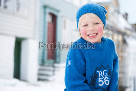 scandinavian boy smiling