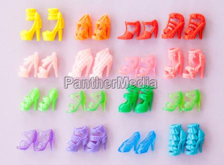 colorido zapatos