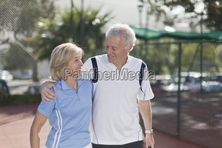 older couple walking together