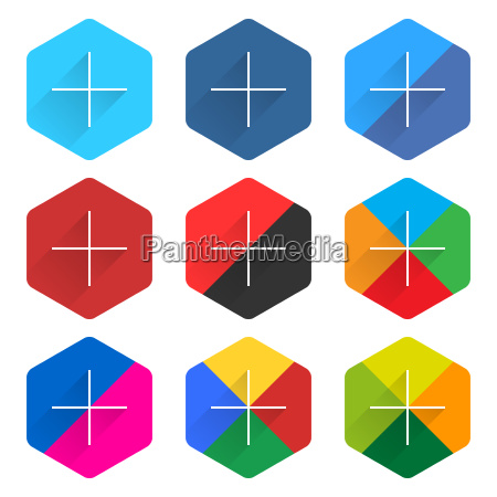 social network web icon set with