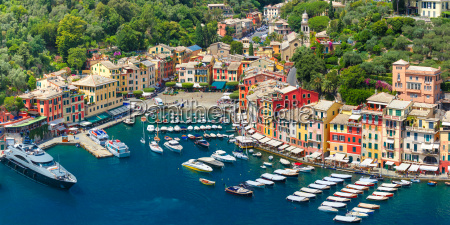 panorama de portofino riviera italiana liguria