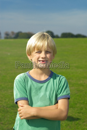 young boy smiling